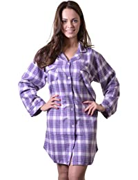 9160943f9e Quality 100% Combed Cotton Nightshirt in Pretty Lilac Check