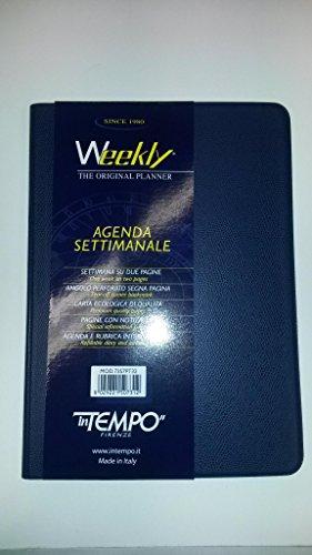 AGENDA SETTIMANALE WEEKLY F.TO 17x24 CM COPERTINA BLU