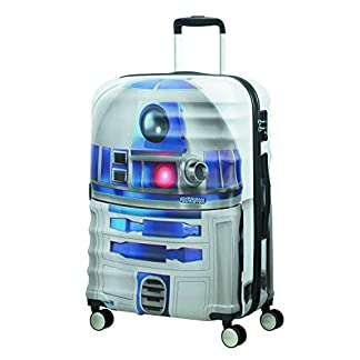 American tourister – Disney Wavebreaker Star Wars R2D2, Maleta Spinner 67/24, 67 cm, 64 L, 4.5 KG Multicolour (Star R2d2)