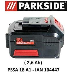Parkside Batterie pour scie sauteuse 18V 2,6Ah PAP18-2.6A1pour PSSA 18A1-IANN104447