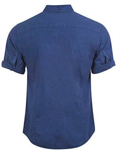 Tokyo Laundry Herren Womack Karo Baumwollhemd Größe S- XL Blau