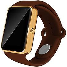 Todo-en-1 reloj elegante, ROSON® más reciente Bluetooth Watch reloj teléfono con ranura para tarjeta SIM y NFC para el iPhone de Apple IOS, Android Samsung HTC Sony LG Smartphones (BROWN)
