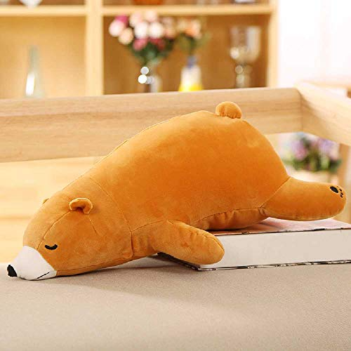 Flower Eisbär PlüschTier auf dem Bären liegend klammern, um Bär Puppe niedlich Schlaf Kissen Puppe Marron -