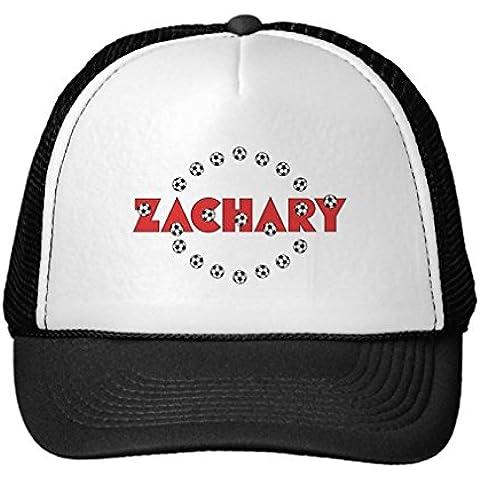Funny Zachary In Soccer Red Trucker Hat