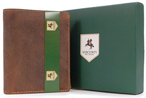 Portefeuille gibecière en cuir - cuir signé Visconti (708)