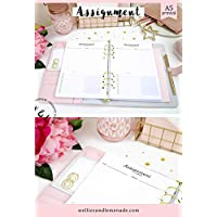 30 Planners - 15 Pages, A5 Assignment Planner Refill, Project Planner Inserts, to do Lists, Student & Academic Planner Inserts, A5 Planner Inserts, Filofax