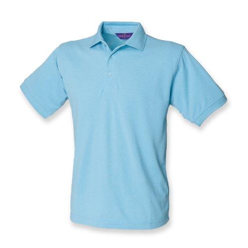 Henbury Herren Polo Shirt Kurzarm Sky