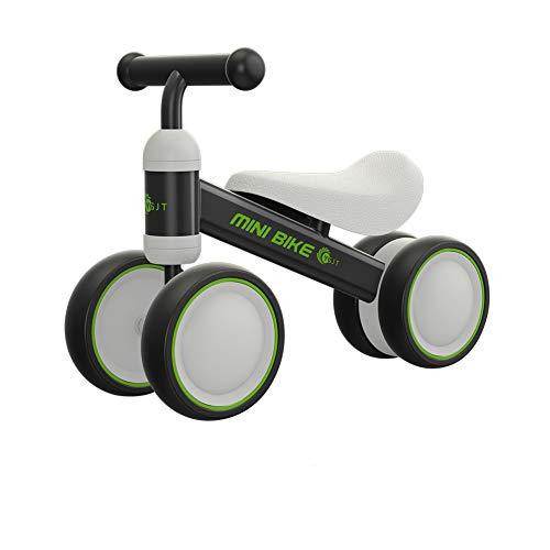 YGJT Kinder Laufrad Spielzeug für 1 Jahr TÜV geprüft Baby Dreiräder Erst Geburtstag Geschenk Fahrrad Für Jungen Mädchen 10-24 Monate Schwarz (Mädchen Schmutz Bike-helme)