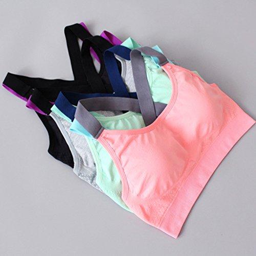 Sharplace Soutien Gorge De Sport Femme Sportif Accessoire Vêtement Gym Confortable Haut Pour Yoga Gris