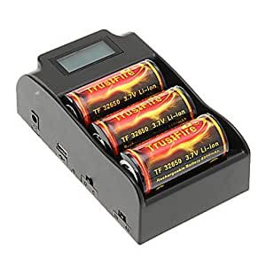 TrustFire 6000mAh 32650 Battery with Overcharge Protection (3pcs) + TrustFire TR-008 Battery Charger