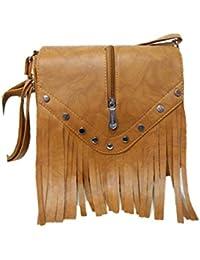 Women's Leather Sling Bag (Brown) - B078NPN1LC