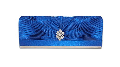 Party XPGG Good gift-Borsa da donna con tracolla, con scritta: evening Clutch bag-015 Nero (blu)