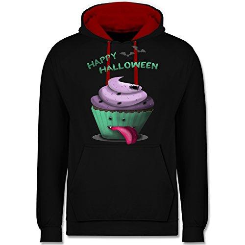 Halloween - Halloween treats - Kontrast Hoodie Schwarz/Rot