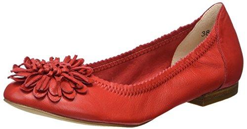 Caprice 22103, Ballerine Donna, Rosso (Red), 38 EU