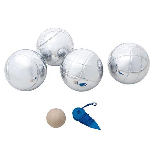 Aktive - Juego petanca profesional - 4 bolas de acero (ColorBaby 52442)