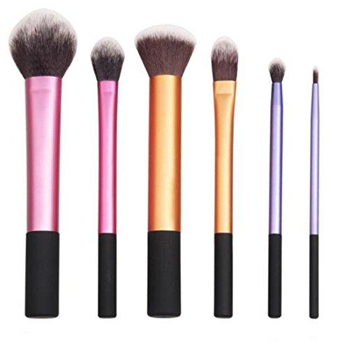 HENGSONG 6 tlg. Makeup Bürsten Pinsel Schminkpinsel Kosmetikpinsel Make Up Pinsel Kosmetik Set