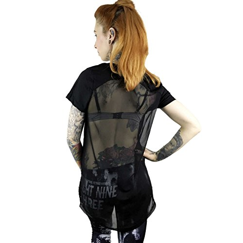 Yakuza Original Damen Sharp Knife Limpid Shirt Schwarz