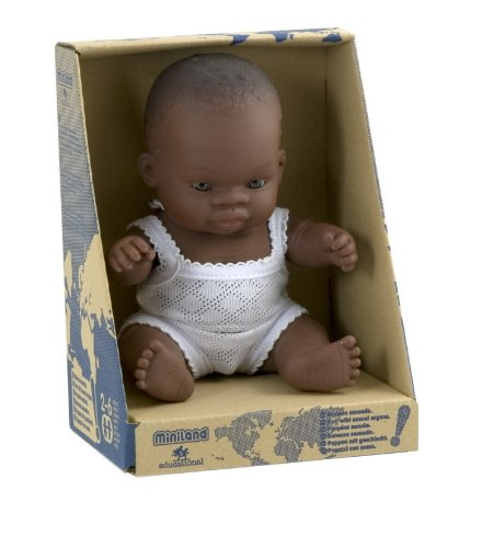 Miniland Miniland31123 Baby Doll African Small boy 21 cm 31123 Multi-Color
