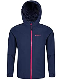 Mountain Warehouse Veste enfant Fille Capuche coupe vent Imperméable et absorbant Brisk Extreme
