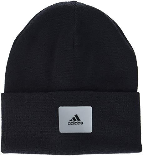 adidas Logo Woolie-Gorro, otoño/Invierno, Unisex Adulto, Color Black/Medium Grey Heather, tamaño Talla única Hombre