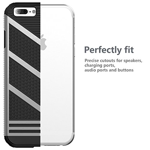 iPhone 7 Hülle, Pasonomi Weich Silikon Handyhülle für Apple iPhone 7 (Gold) Grau