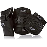 Osprey Kids' Skate BMX 6pc Knee, Elbow & Wrist Protective Set, Black