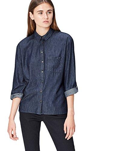 Find denim shirt  camicia donna, blu (blue), 40 (taglia produttore: x-small)
