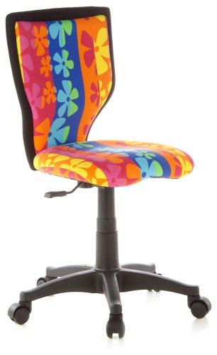 hjh OFFICE 670060 Kiddy - Silla de escritorio infantil con diseño de flores
