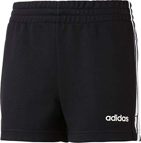 adidas Mädchen YG E 3S Sport Shorts, Black/White, 11-12Y - Mädchen Terry Shorts