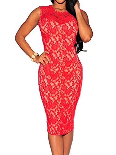 E-Girl FOB6974 deman Cocktailkleider,Partykleid Rot