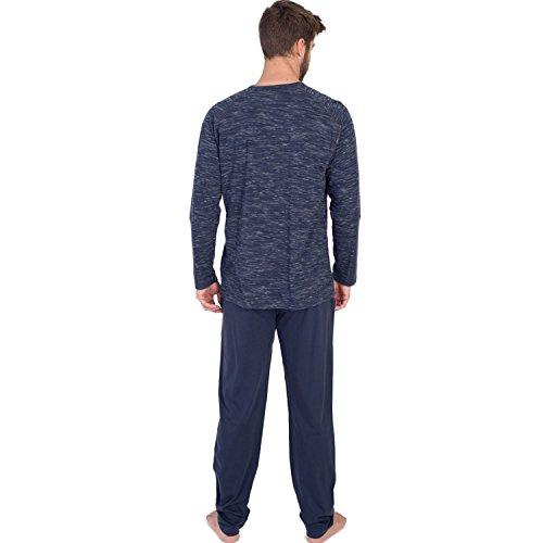 MASSANA Herren Schlafanzug Marineblau Blau