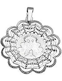 Medalla plata ley 925m Virgen Rocío 42mm. [8849]