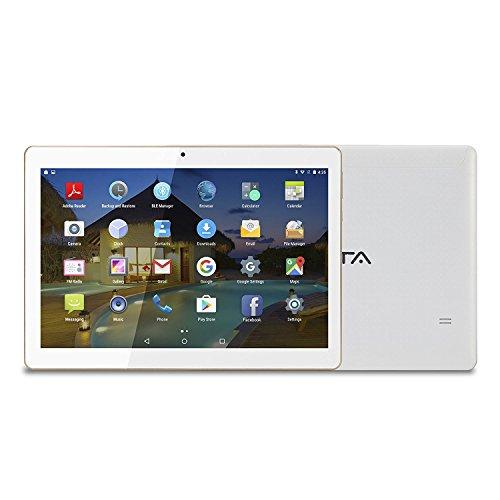 10 pollici Tablet BEISTA Android 7.0- (Processore Quad Core,Capacità 32GB, RAM 2 GB,3G Dual Sim ,Wlan / Wifi,GPS,OTG)-Bianca