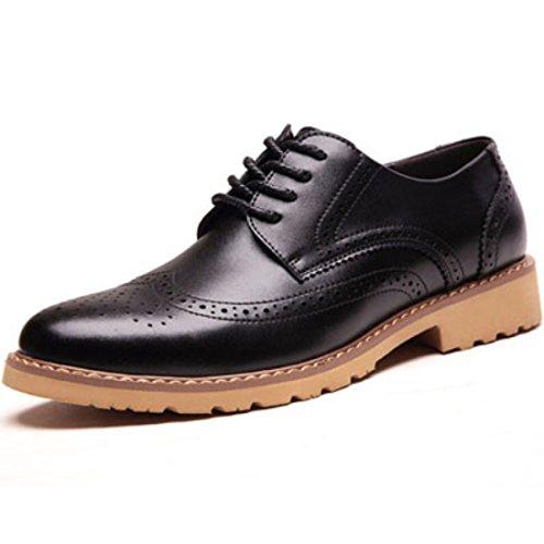 Men's Vintage Retro Brogues Genuine Leather Formal Shoes Black