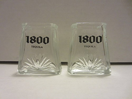 set-of-2-jose-cuervo-1800-tequila-raised-agave-logo-clear-pyramid-shaped-shot-glasses-by-jose-cuervo