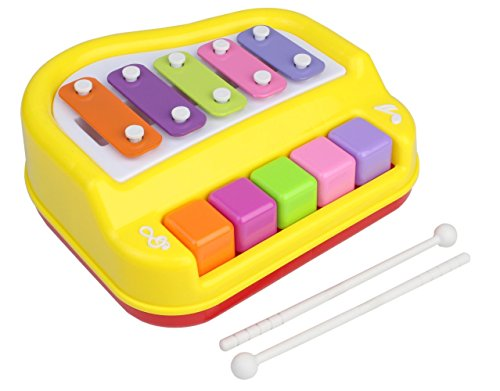 Gifts Online Xylophone + Piano Musical Toy with 2 Mallets for Children Kids Toddlers