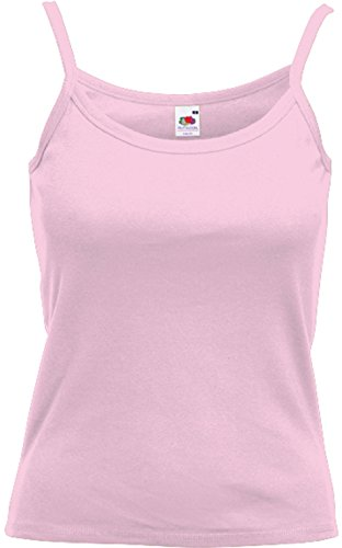 Baumwoll-tops (Fruit of the Loom - Spaghetti-Träger-Top 'Lady-Fit Strap T' M,Light Pink)