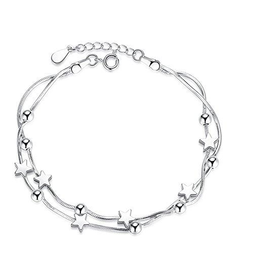 Dc Jewels Sterling Silver Star Design Adjustable Bracelet For Women & Girls