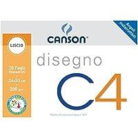 Canson 100500451 Album da Disegno C4, Liscio Riquadrato, 24 x 33 cm, 200 G/Mq, 20