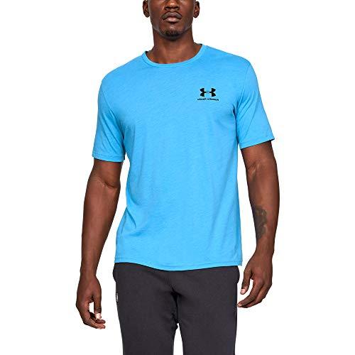 Under Armour Baumwoll-shorts (Under Armour Herren UA Sportstyle Kurzarm,T-Shirt, Blau (Blau), 2XL)