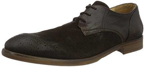 H.D. Hudson Mfg Co. Rogers Suede Brown, Chaussures à Lacets Homme