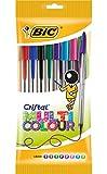 BIC Cristal Multicolor - Caja de 8 bolígrafos, colores fashion y regulares