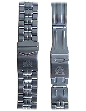 Uhrenarmband 24 mm Edelstahl von Tauchmeister 1937 TS-24