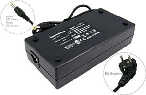 Adaptateur chargeur secteur AC Adapter pour ordinateur portable Acer Aspire 1360 1500 1510 1520 1600 1610 1620 1660 1670 1680 5010 9800 9810 L100 L310 L320 9920G L3600 L5100 1804WSMI, Acer Ferrari 1200. Avec câble d'alimentation standard européen. De e-port24®.