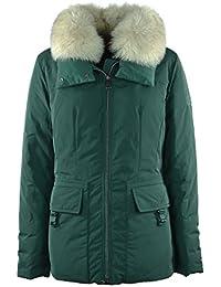 PEUTEREY - PEUTEREY donna piumino giacca verde con pelliccia VERGIE FUR PED2266 619 - 23585 - 48