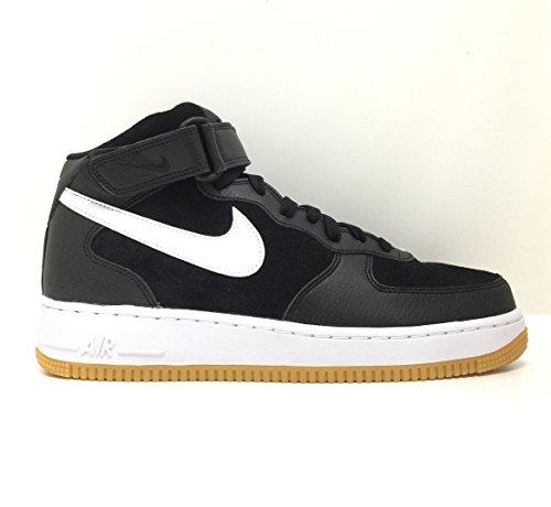 Nike Air Force 1 Mid (Nike Herren 315123-035 Basketball Turnschuhe, schwarz/weiß, 44 EU)