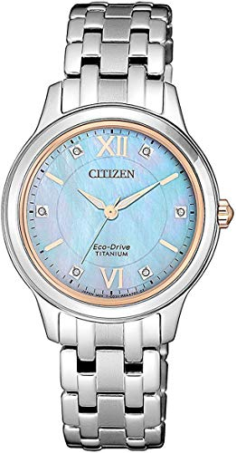 Citizen Women's Solar Watch Eco-Drive Super Titanium EM0726-89Y