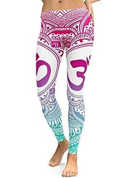 DOGZI_Pantalones Mujer Yoga Casual Floral Delgado De Pantalones De Pierna Ancha Cintura Elástica Holgados Flojos...