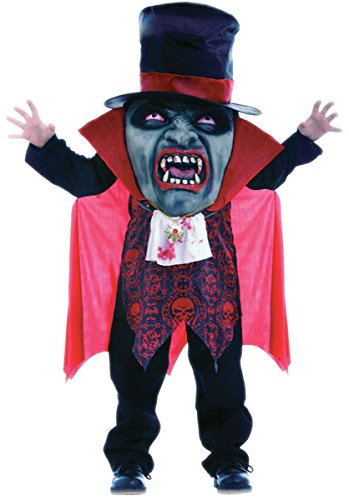 Child Big Head Mad Hatter Vampire Boys Costume: Medium - Mad Hatter Kostüm Boy