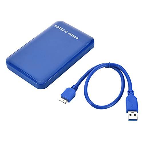 Solustre Tragbare Externe Festplatte High Speed Mobile Festplatte Usb3.0 Unterstützung 3 Tb Festplatte für Pc Desktop Laptop Und Mehr (Blau)